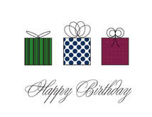 Three Presents Birthday Greeting Card
