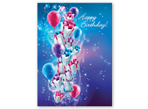 Up, Up and Away! Happy Birthday Greeting Card